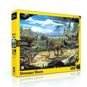 New York Puzzle Company Dinosaur Shore - 200 Piece Puzzle - National Geographic