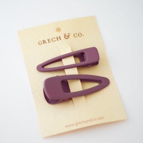 Grech & Co Matte Clips Set of 2 - Burlwood