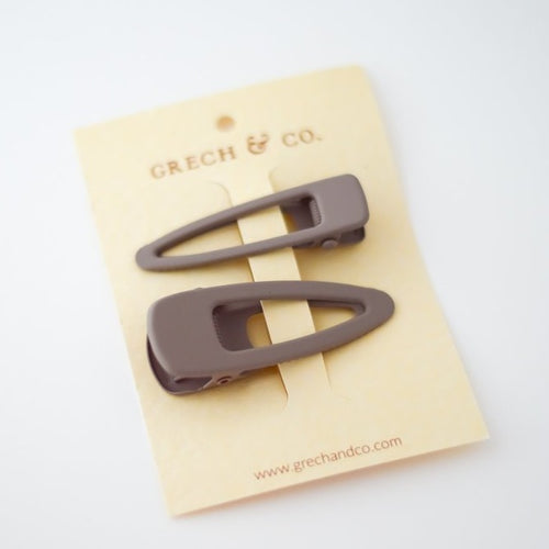 Grech & Co Matte Clips Set of 2 - Stone