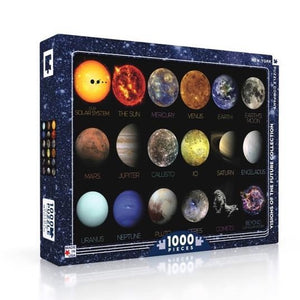 New York Puzzle Company Visions of the Future Solar System - 1000 Piece Puzzle
