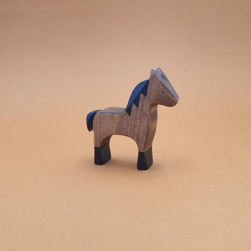 Brin d'Ours handmade in France wooden Dark Bay Foal
