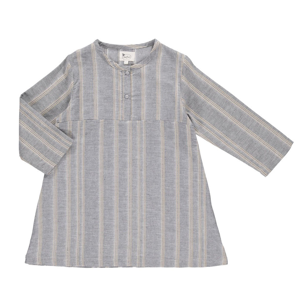 Pierrot La Lune Rajasthan Kurta - Grey Woven Stripes