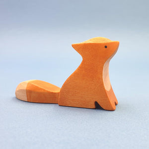 Brin d'Ours handmade in France wooden Sitting Fox