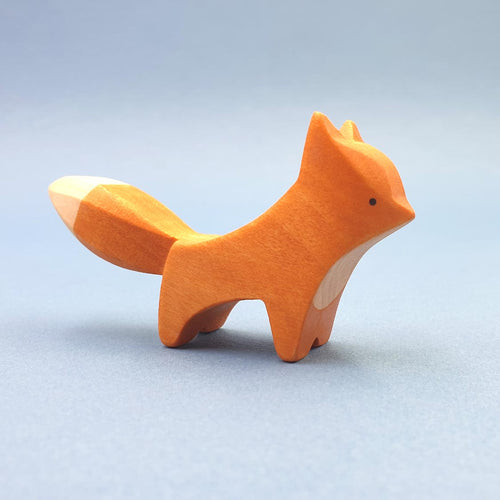 Brin d'Ours handmade in France wooden Standing Fox
