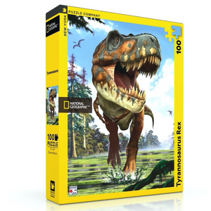 New York Puzzle Company Tyrannosaurus Rex - 100 Piece Mini Puzzle - National Geographic