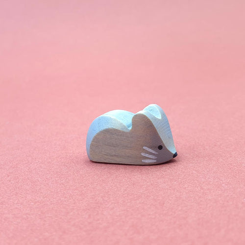 Brin d'Ours handmade in France tiny little grey wooden mice