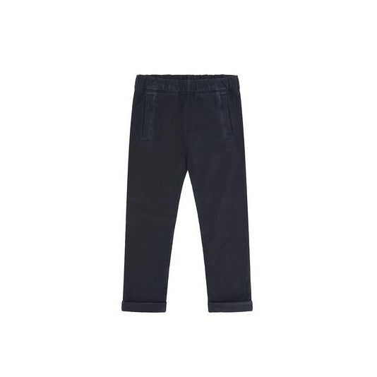 Vild House of Little Organic Cotton Trousers, Natural Stone Blue - Palmetto Dye