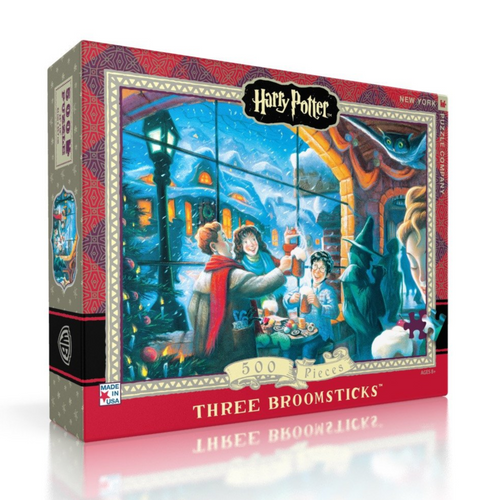 New York Puzzle Company The Three Broomsticks - 500 Piece Puzzle - Harry Potter