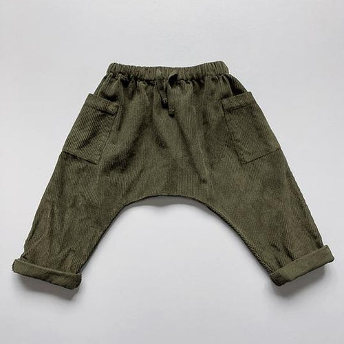 The Simple Folk The Corduroy Harem Trouser - Olive