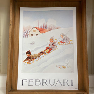 Elsa Beskow Seasonal A4 Poster (Single)