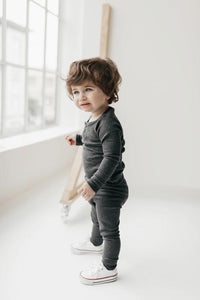 Organic Essential Leggings - Dark Grey Marle