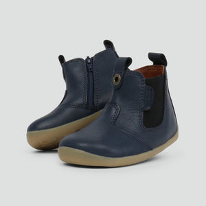 Bobux Step Up Jodhpur Navy 18 19 20 21 22 Classic Chelsea Boot