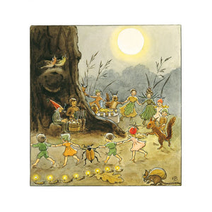 Elsa Beskow - Ocke, Nutta and Pillerill Mini Poster