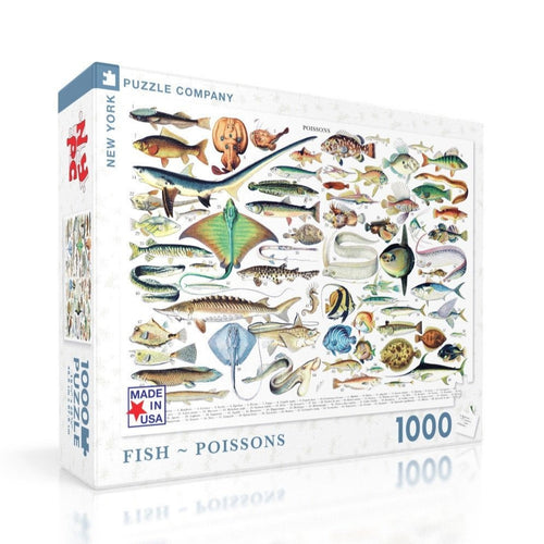 New York Puzzle Company Fish - Poissons - 1000 Piece Puzzle