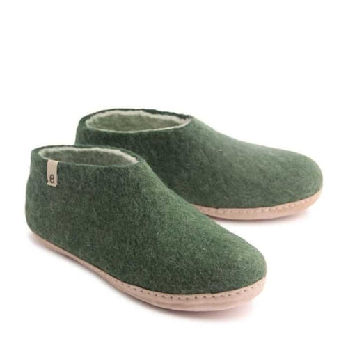 Egos Junior Slipper - Green (Sizes 30-35)