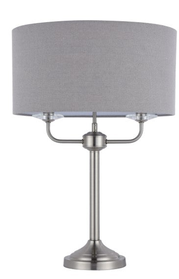 129 TABLE LAMP SATIN NICKLE