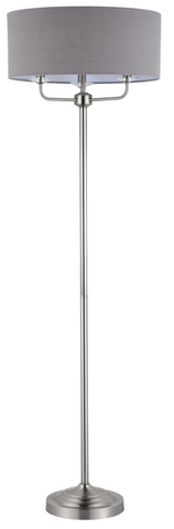 129 FLOOR LAMP SATIN NICKLE