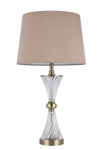 418 TABLE LAMP ANTIQUE BRASS