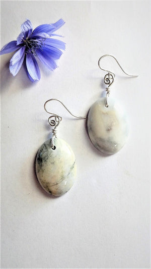 Skye Marble Oval Earrings