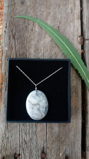 Skye Marble and Sterling Silver Pendant