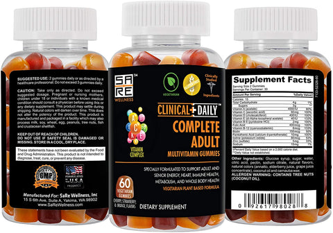Image of CLINICAL DAILY COMPLETE Adult Daily Multivitamin Gummy from SaRe Wellness - Where Healthy Families Thrive