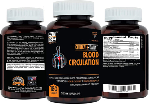 Image of CLINICAL DAILY Blood Circulation + Cholesterol Lowering Supplement 60 Day Bundle from SaRe Wellness - Where Healthy Families Thrive