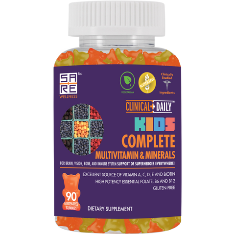 CLINICAL DAILY COMPLETE Kid's Gummy Multivitamins and Minerals - SaRe Wellness - Where Healthy Families Thrive