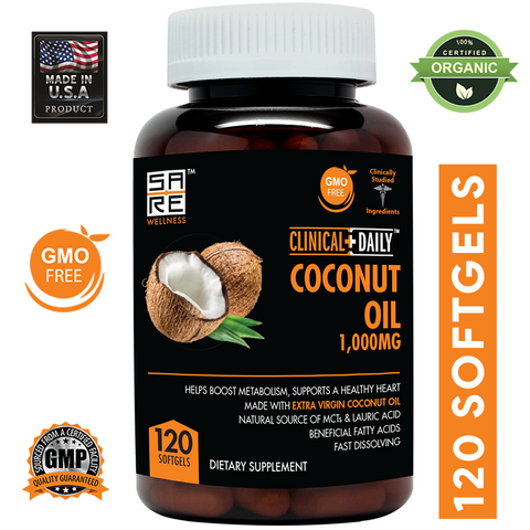Image of CLINICAL DAILY Organic Coconut Oil Supplement - SaRe Wellness - Where Healthy Families Thrive