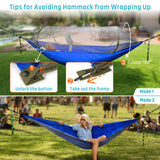 Outdoor Hanging Foldable Tent Portable Canopy Double Hammock Bug Net