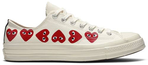 "Comme des Garçons Play x Chuck 70 Low Top ""Multi Heart"" - Sneakers Online Store 