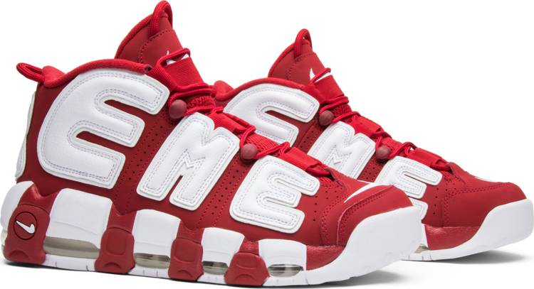 Supreme x Air More Uptempo 'Red' - Sneakers Online Store | Sneakereyes