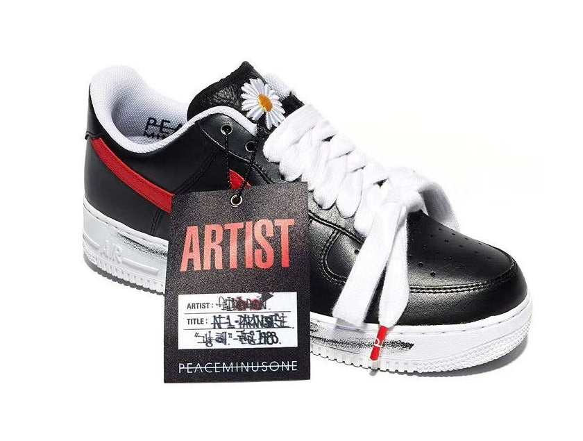 "PEACEMINUSONE x Air Force 1 ""Para Noise Black / Sport Red"" - Sneakers Online Store 
