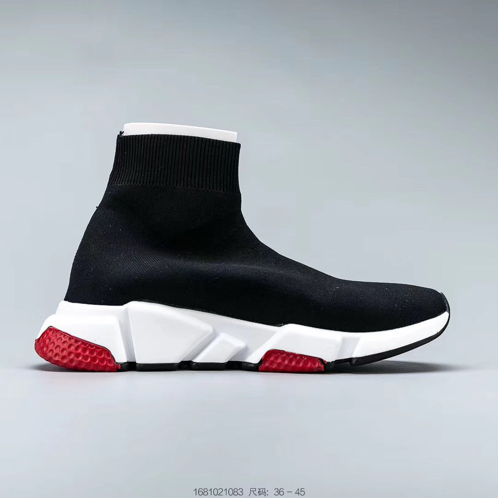 "Balenciaga Speed Trainer Mid ""Black Red"" - Sneakers Online Store 