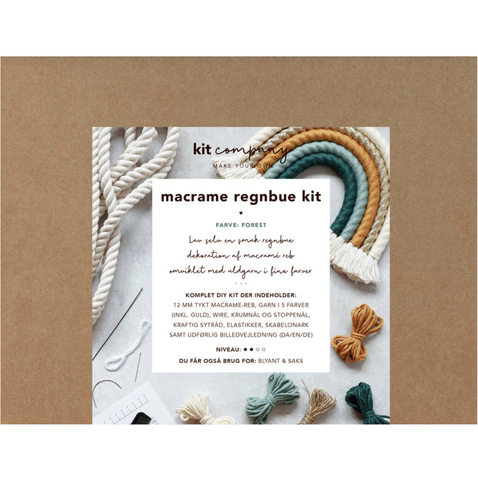 MACRAME REGNBUE KIT - FOREST
