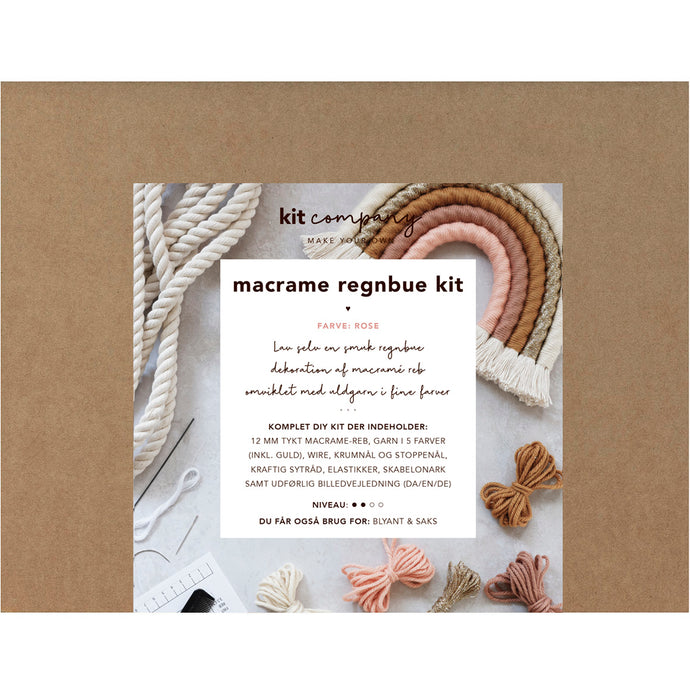 MACRAME REGNBUE KIT - ROSE