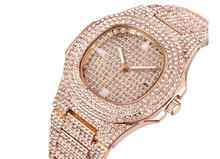 Load image into Gallery viewer, Gold Diamond Watch (Low stock) 🔥🔥