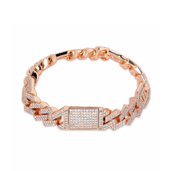 P.LINKED ASSYMETRIC (ROSE GOLD)