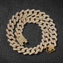 Load image into Gallery viewer, 3 Row Rhinestone Cuban Link chain