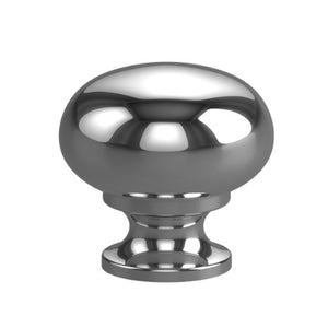 Cabinet Knob. Back-to-back pair Brass knob 30mm Mushroom - Style Finish Design Pty Ltd