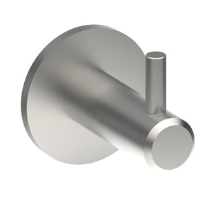 Coat Hook, Solid Stainless Steel, 12mm Ø 43mm projection. With plate - Style Finish Design Pty Ltd