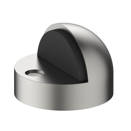 003 Dome Door Stop, Floor Mounted, Solid Stainless Steel Ø44mm Extended Base 11mm