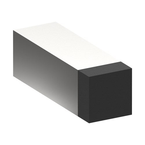 024 Door Stop, Wall Mounted, Square 25mm x 25mm x 75mm projection