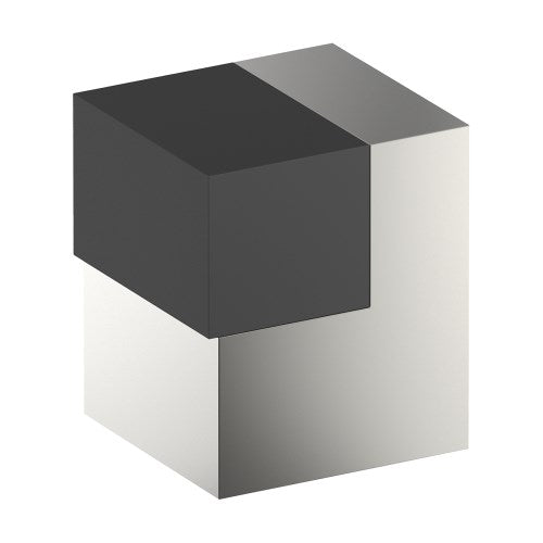 025 Door Stop, Floor Mounted or Wall Mounted, Square 25mm x 25mm x 40mm projection