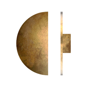 G2810 Semi-circular Entrance Pull Handle, Solid Brass, Ø250mm x Projection 45mm in Antique Brass