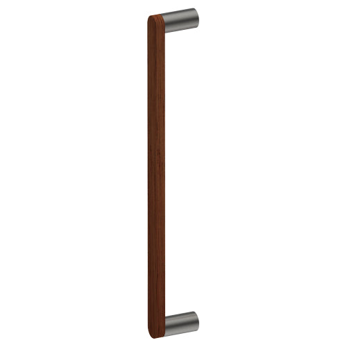 G4608-25 Raw Timber Entrance Pull Handle, American Black Walnut, CTC400mm, H425mm x W25mm x D12mm x Projection 57mm