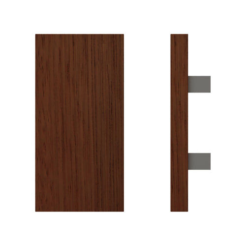 G4730 Raw Timber Entrance Pull Handle, American Black Walnut, 300mm x 150mm x Projection 68mm