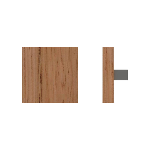 G4750 Raw Timber Entrance Pull Handle, American White Oak, 150mm x 150mm x Projection 68mm