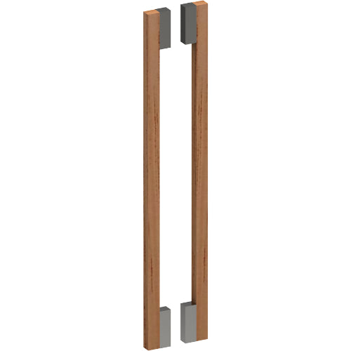 G4832-40 Raw Timber Entrance Pull Handle, American White Oak, Back to Back Pair, H600mm x 40mm x 40mm x Projection 78mm