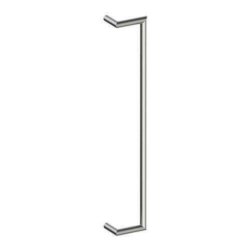 CETINA OFFSET Entrance Pull Handles, Stainless Steel, 25mm Ø x 800mm CTC (Back to Back Pair)