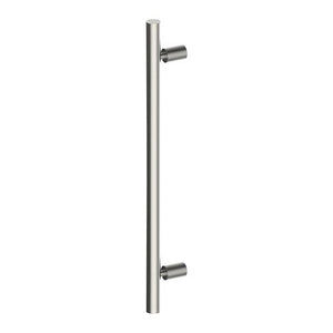 DUO Entrance Pull Handles, Stainless Steel, 32mm Ø x 600mm CTC (Back to Back Pair) in Satin Stainless Steel